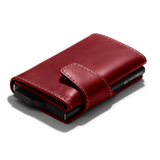 Scarlet Red Keeper Tri-Fold RFID Wallet - Chamlooks