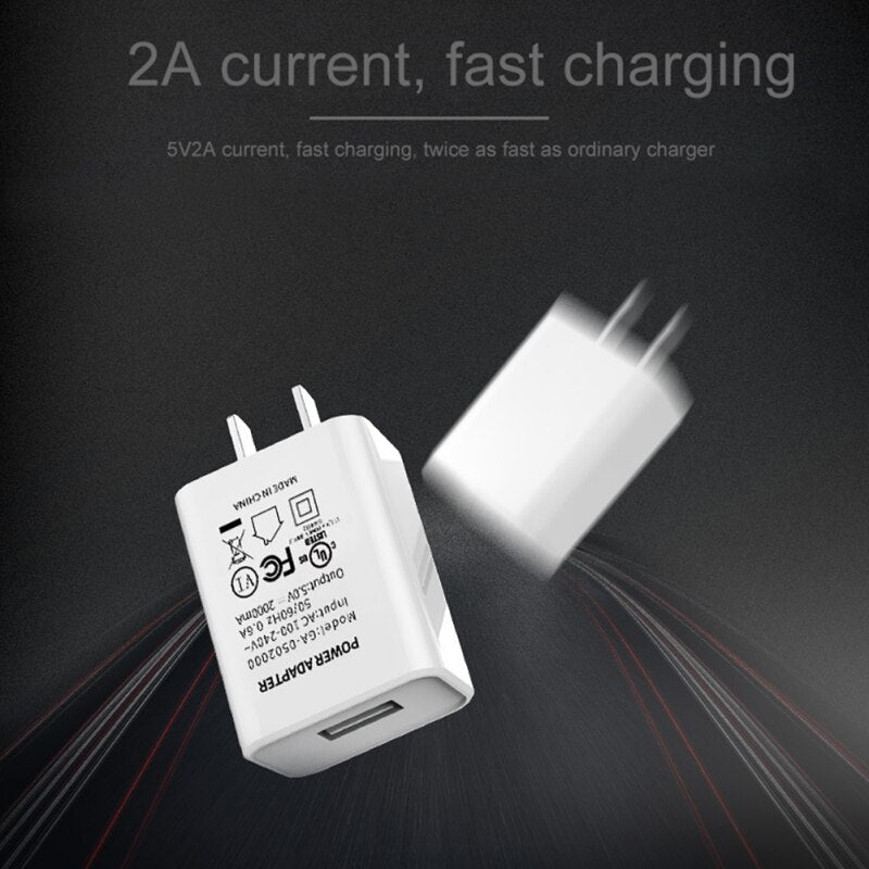 Charging Block Power Adapter Replacement US Plug  5V 2A USB Wall Charger