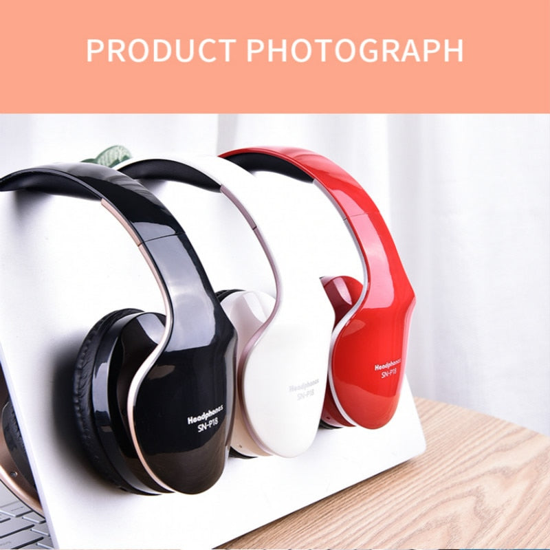 New Wireless Foldable Gaming Headset Stereo With Microphone