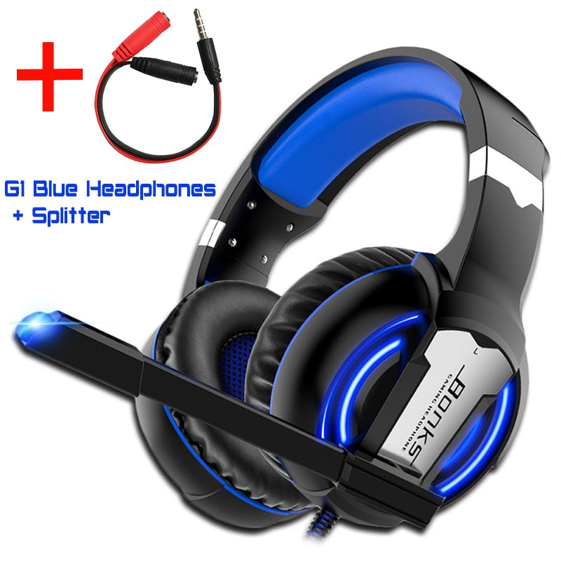 Bring your games to life with these Gaming Headsets w/ Mic LED Lights and  Surround Sound Bass