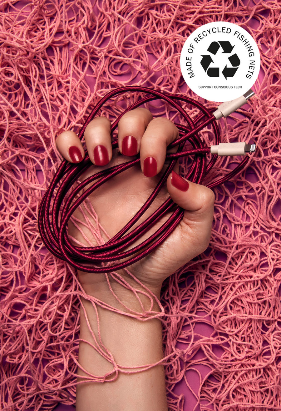 Sustainable iPhone Charging Cable Plum