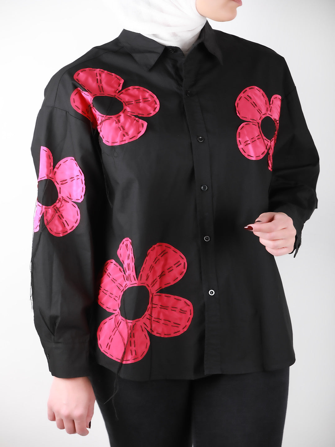 Red Flowers Shirt