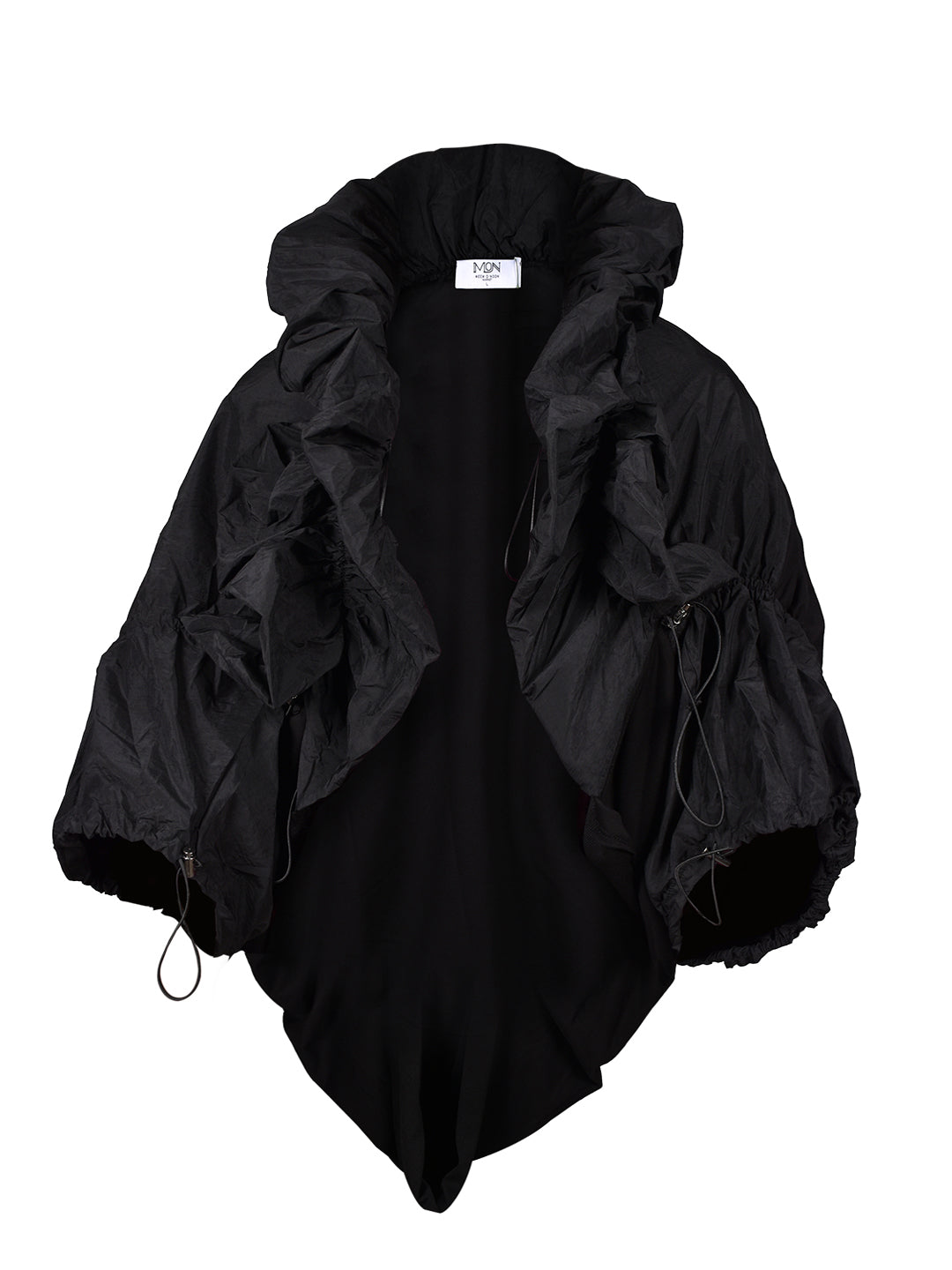 Puffy Elastic Ties Loose Jacket