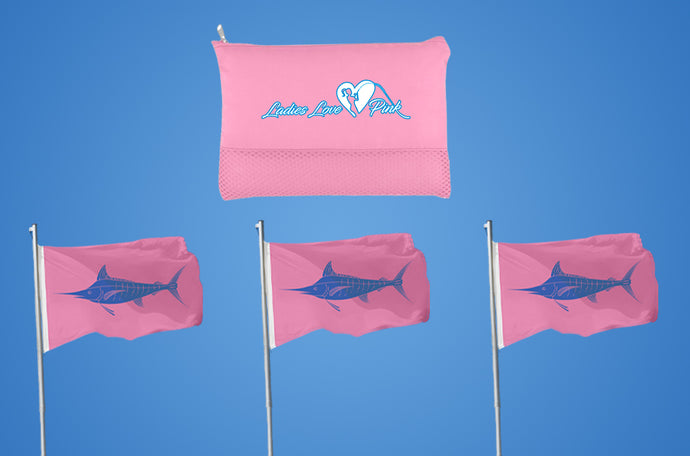 Pink Fishing Flags - Ladies Love Pink