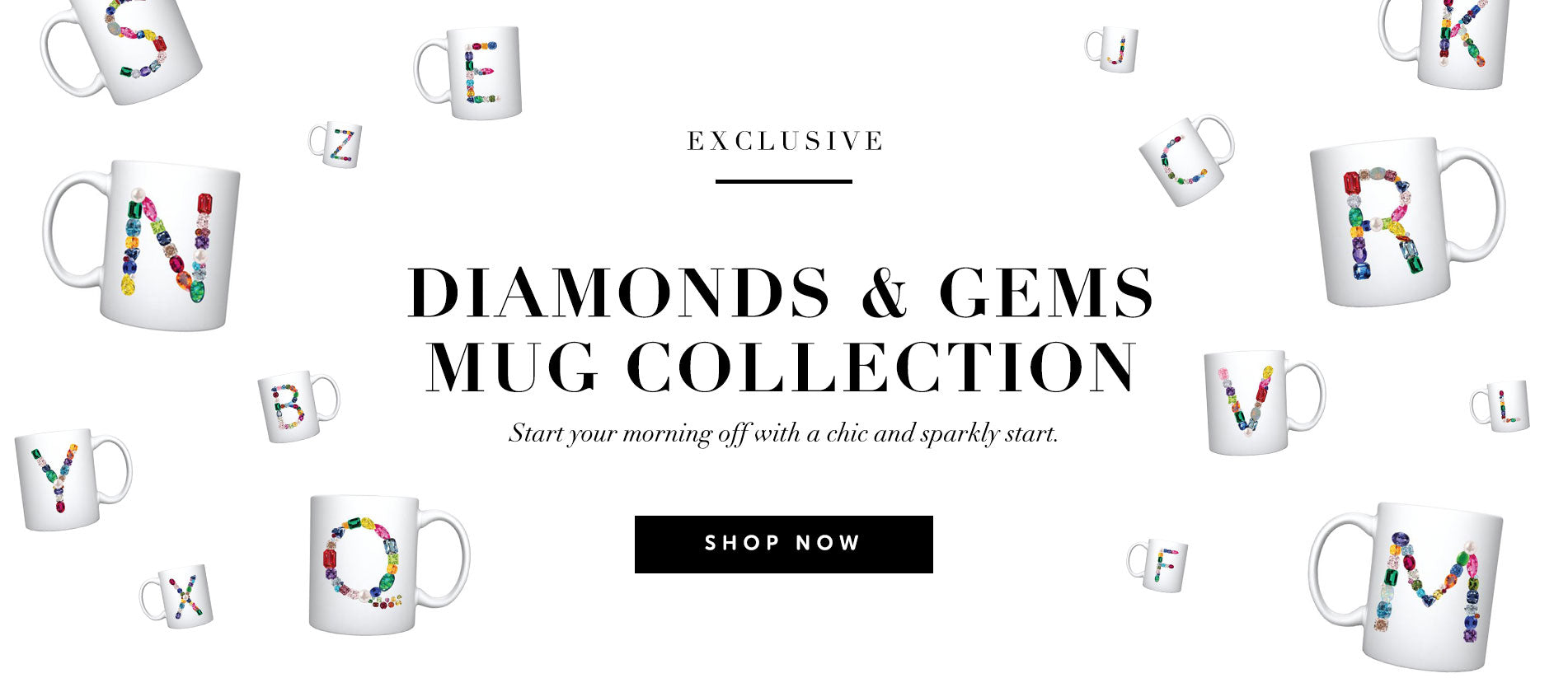 Shop the new Diamonds & Gems Mug Collection from Naly Rice