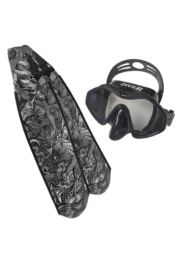 Reef Life (B&W) + Free Dive Mask  (SAVE $70)