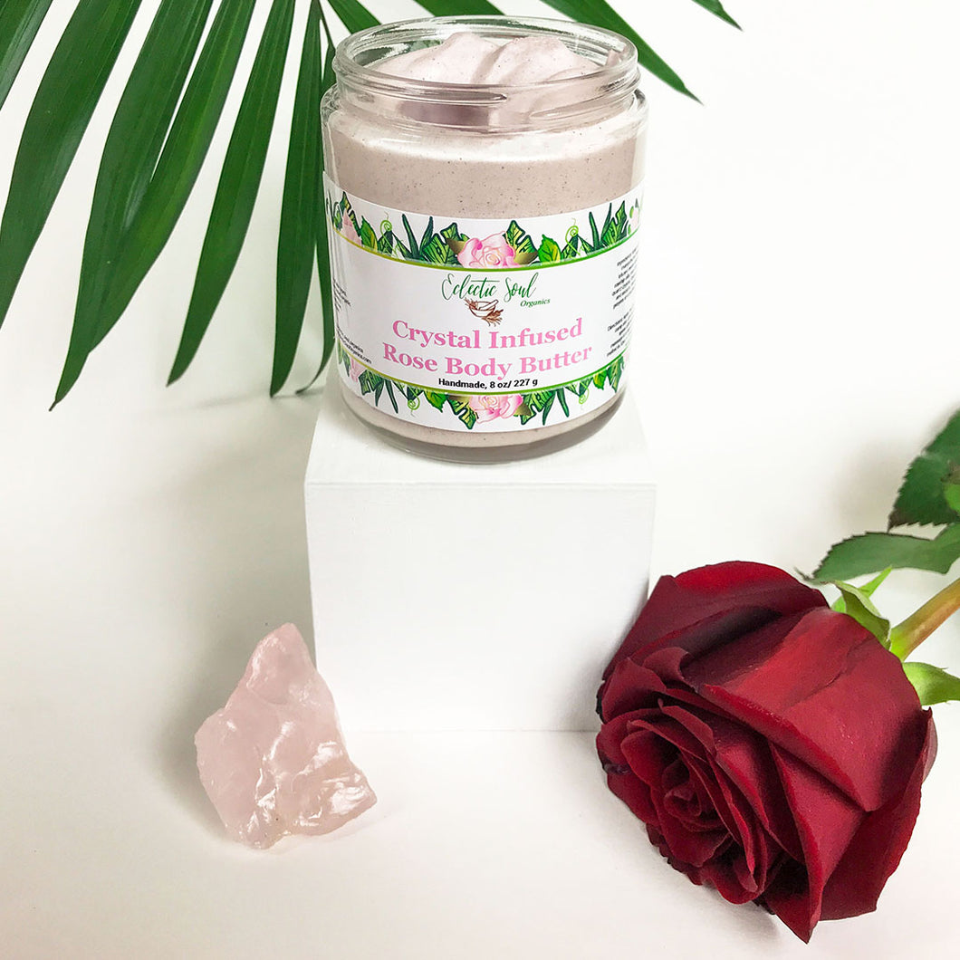 Crystal Infused Rose Body Butter