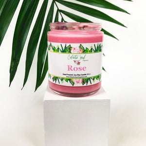 Rose Herbal Candle