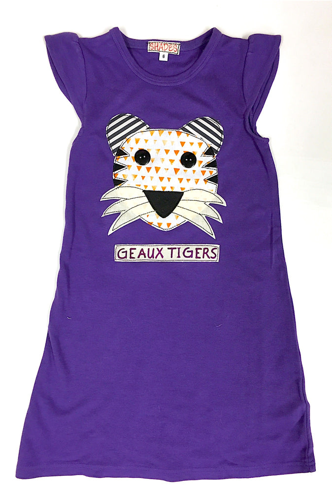 Purple Tiger Knit Dress