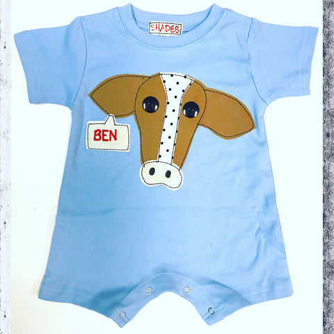 Blue Cow Romper