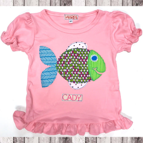 Rainbow Fish Ruffle Tee