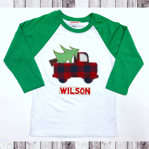 *Limited Time* Raglan Christmas Truck Tee