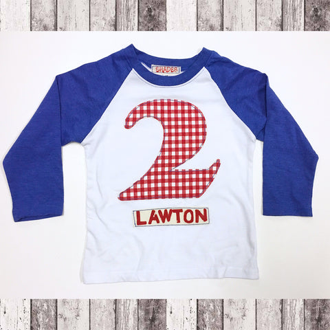 Raglan Birthday Number Tee