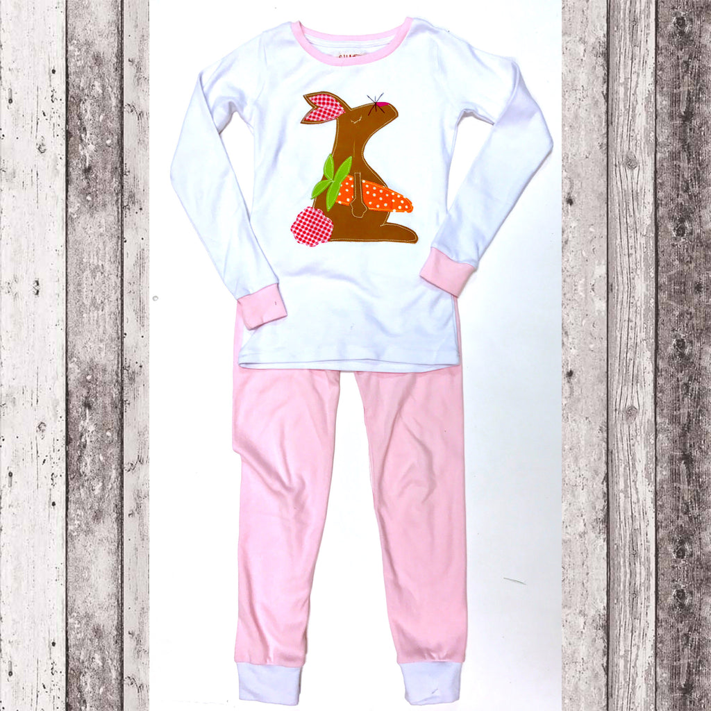 Easter Bunny Pajamas Set (Pink)