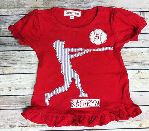 Batter Up Ruffle Tee