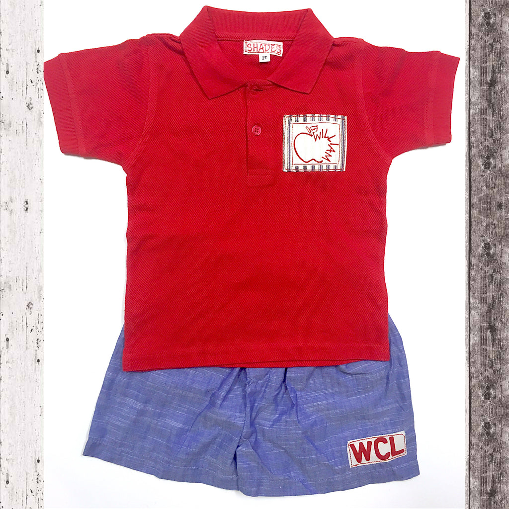 Red Apple Polo Set