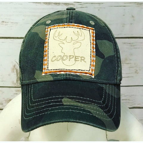 Youth Personalized Buck Camo Hat