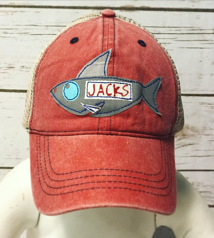 Youth Personalized Shark Hat