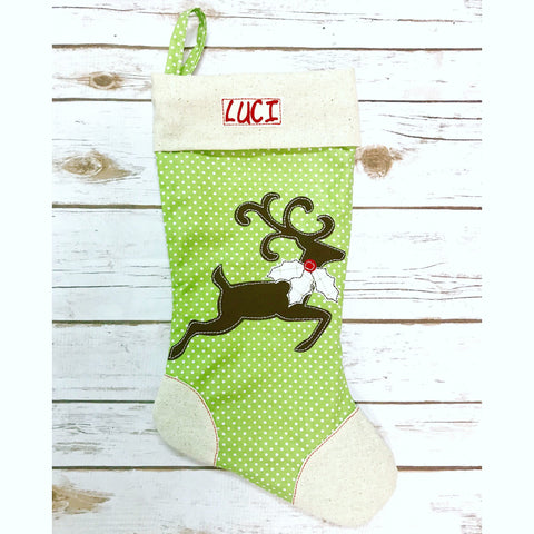 **NEW** Christmas Reindeer Stocking