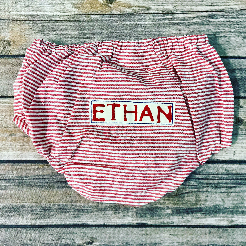 Personalized Diaper Cover (Red)