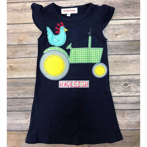 Tractor with Rooster Dress