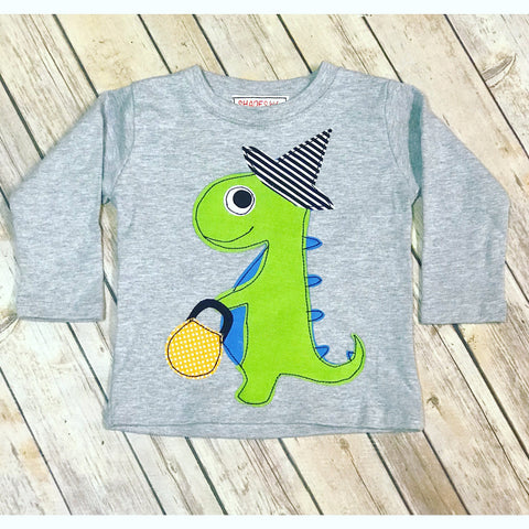 Trick or Treating Dino Tee