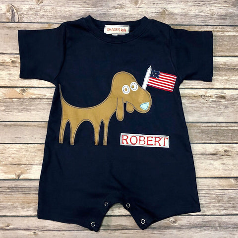 Patriotic Dog Romper