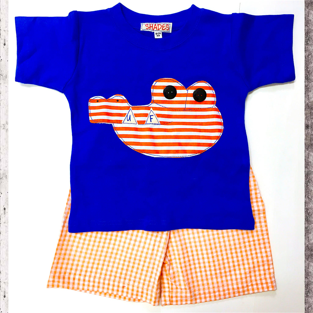 Orange and Blue Gator Set
