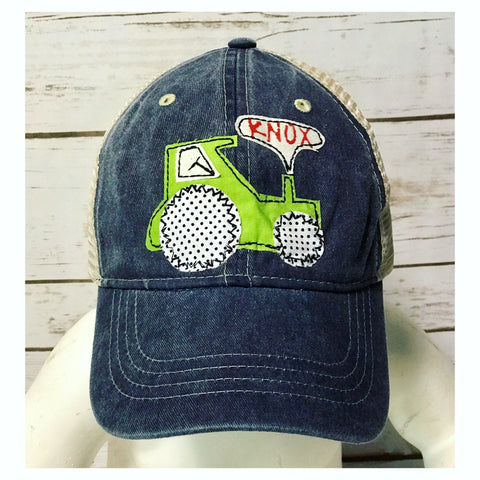 Youth Personalized Tractor Hat