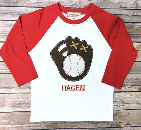 ***NEW*** Baseball Glove Tee (Red)