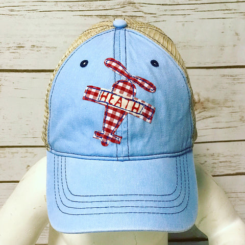 Youth Personalized Plane Hat