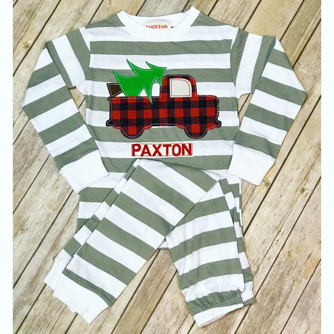 Christmas Truck Pajama Set