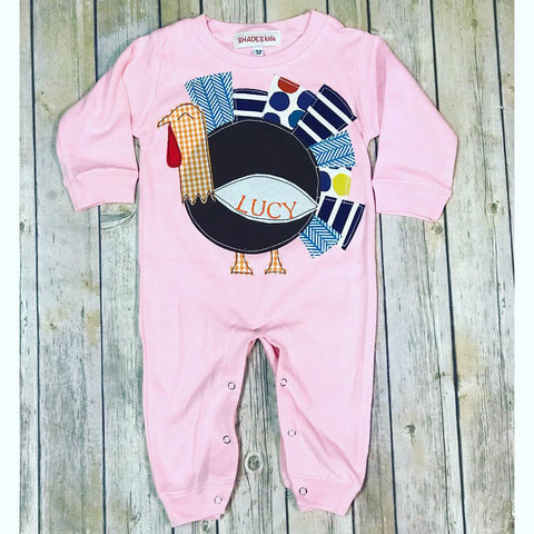 Pink Turkey Romper