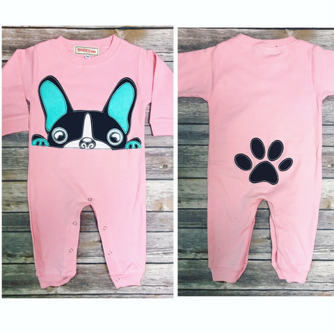 Frenchie Romper (Pink)