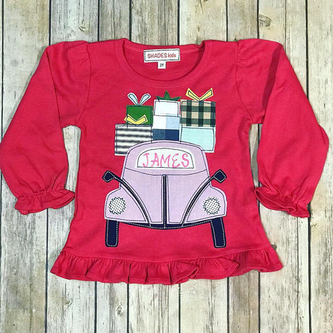 Holiday Car Ruffle Tee