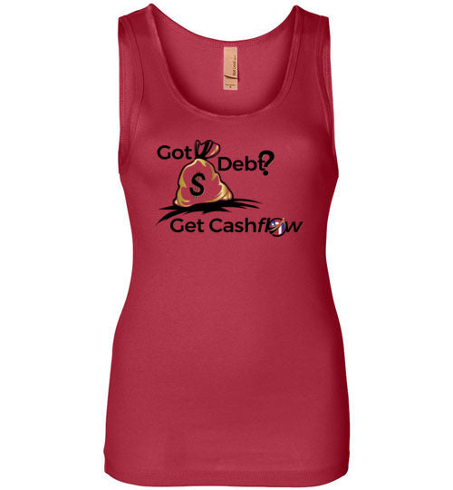 #GotDebt? | Next Level Womens Jersey Tank