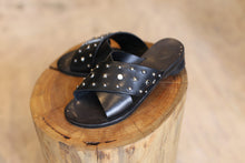 Load image into Gallery viewer, HTC Leather Studded Slides - Size 38