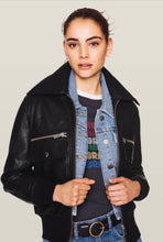 Load image into Gallery viewer, Ba&sh leather jacket- Size 1