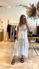 Load image into Gallery viewer, Shona Joy- White Linen Maxi Dress- Size 10