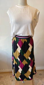 Rich & Royal Pleated Skirt- Size M