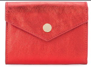 Anine Bing Red Stud Wallet
