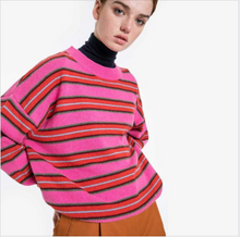 Load image into Gallery viewer, Obus pink stripe knit- Size 4