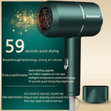 Negative Ion Hair Dryer High Speed Professional Blow Dryer Aluminum Alloy Powerful Electric Hair Dryer for Household Travel Tool