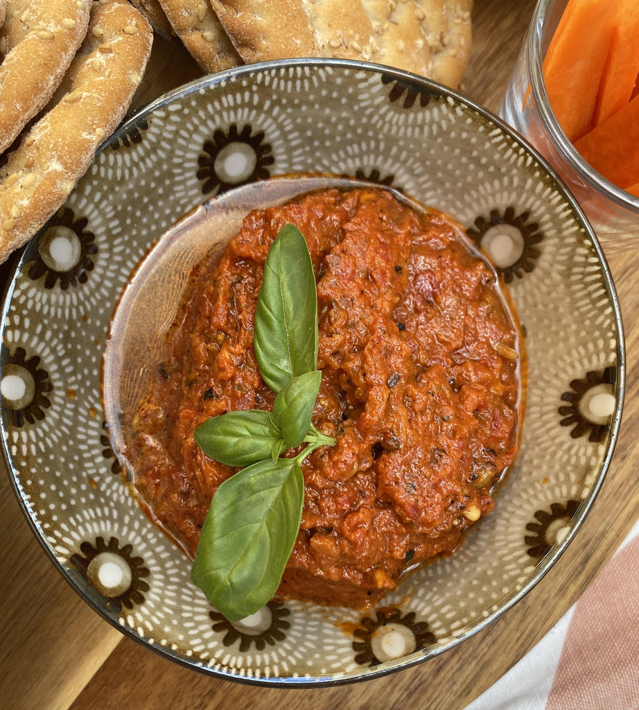 tdc bowl of harissa dip
