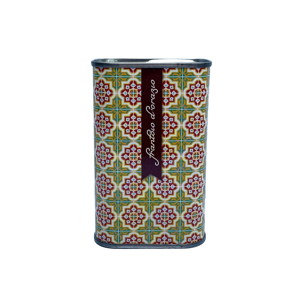 One Tin of Extra Virgin Olive Oil Mediterranea Collection - FrantoioD_Orazio Yellow red