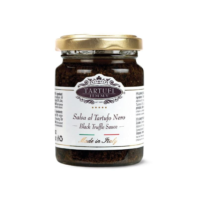 jar of truffle sauce black tartufi jimmy