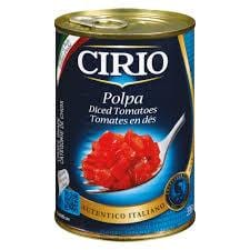 one jar of diced tomato cirio
