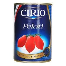 jar of cirio peeled cirio