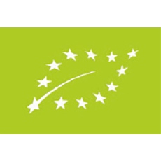 European Union Organic Certificate Logo Leaf with stars
