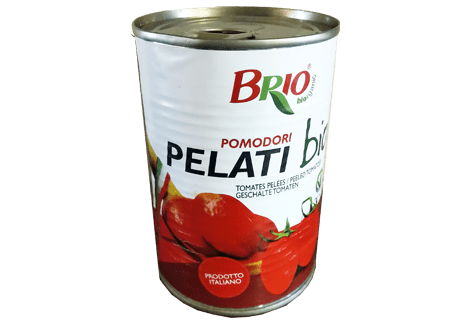 one can of peeled toamtoes organic Brio
